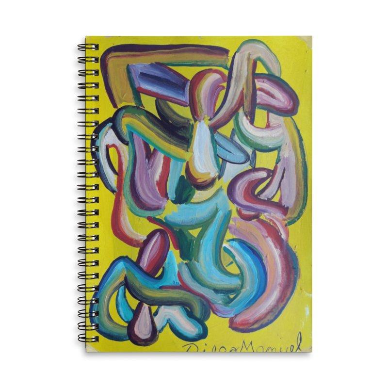 Formas en el espacio 1 Accessories Lined Spiral Notebook by diegomanuel's Artist Shop
