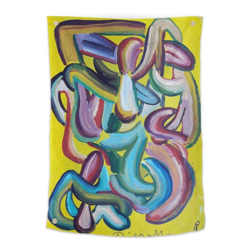 Formas en el espacio 1 Home Tapestry by diegomanuel's Artist Shop