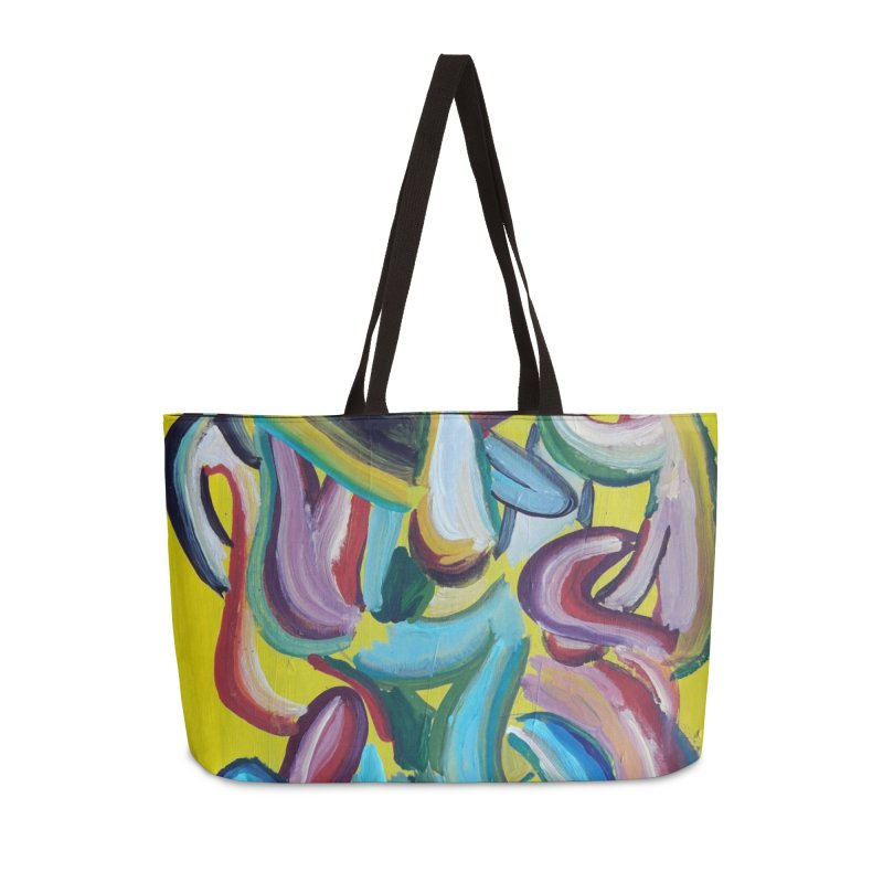 Formas en el espacio 1 Accessories Weekender Bag Bag by diegomanuel's Artist Shop