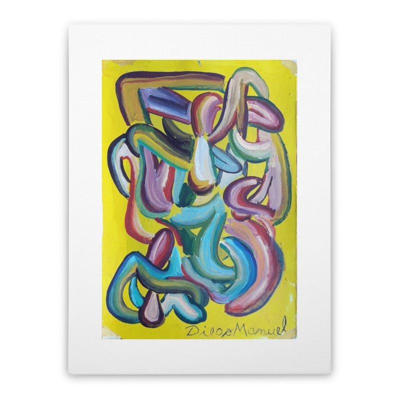Formas en el espacio 1 Home Stretched Canvas by Diego Manuel Rodriguez Artist Shop