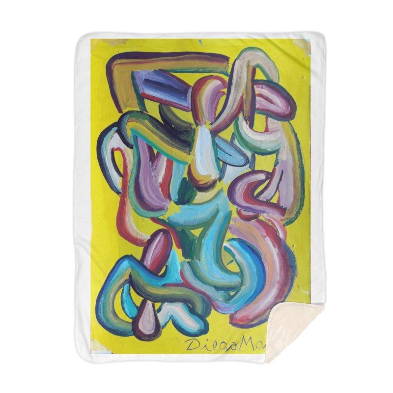 Formas en el espacio 1 Home Blanket by Diego Manuel Rodriguez Artist Shop