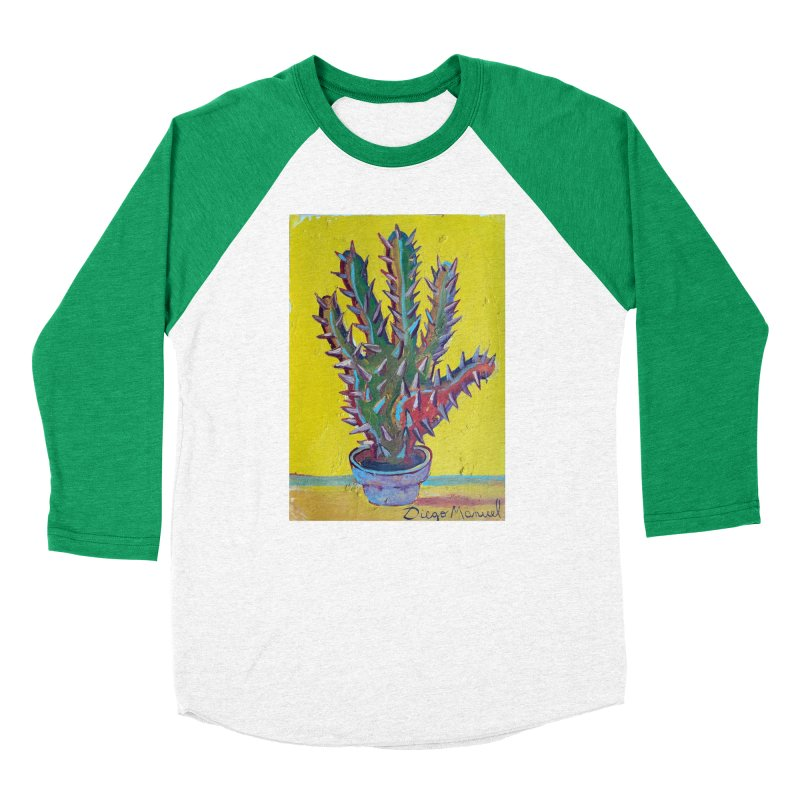 Mano cactus 2 Women's Baseball Triblend T-Shirt by diegomanuel's Artist Shop