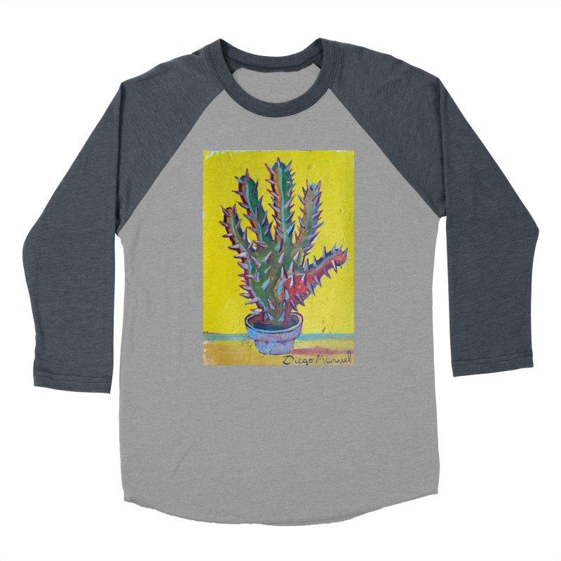 Mano cactus 2 Men's Baseball Triblend T-Shirt by diegomanuel's Artist Shop