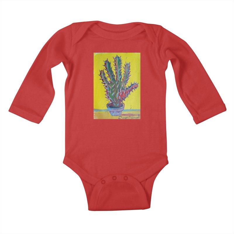 Mano cactus 2 Kids Baby Longsleeve Bodysuit by diegomanuel's Artist Shop