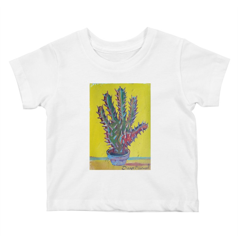 Mano cactus 2 Kids Baby T-Shirt by diegomanuel's Artist Shop
