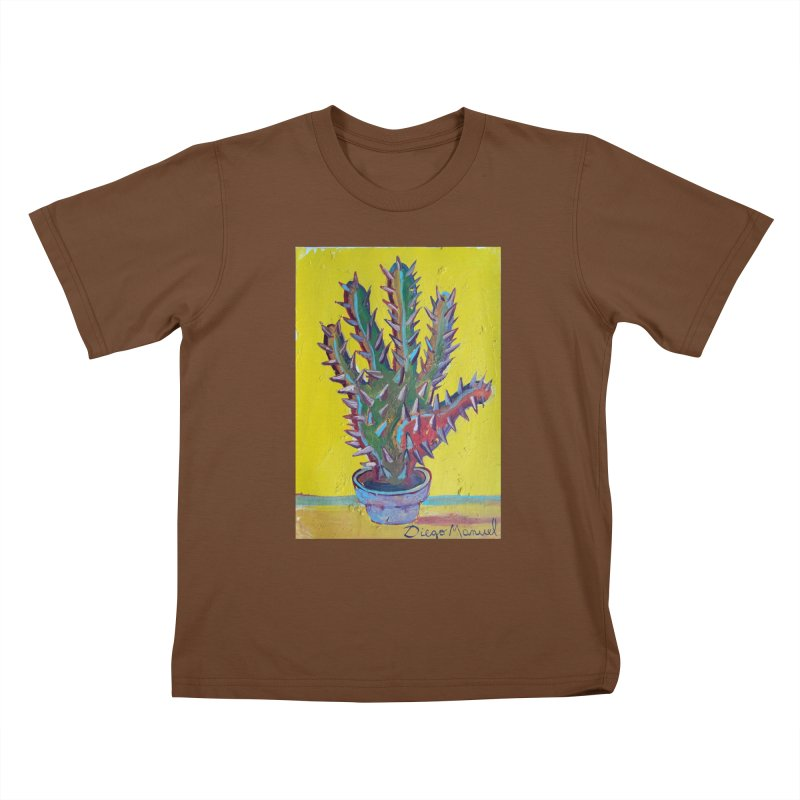 Mano cactus 2 Kids T-Shirt by diegomanuel's Artist Shop