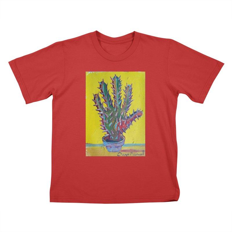 Mano cactus 2 Kids T-shirt by diegomanuel's Artist Shop