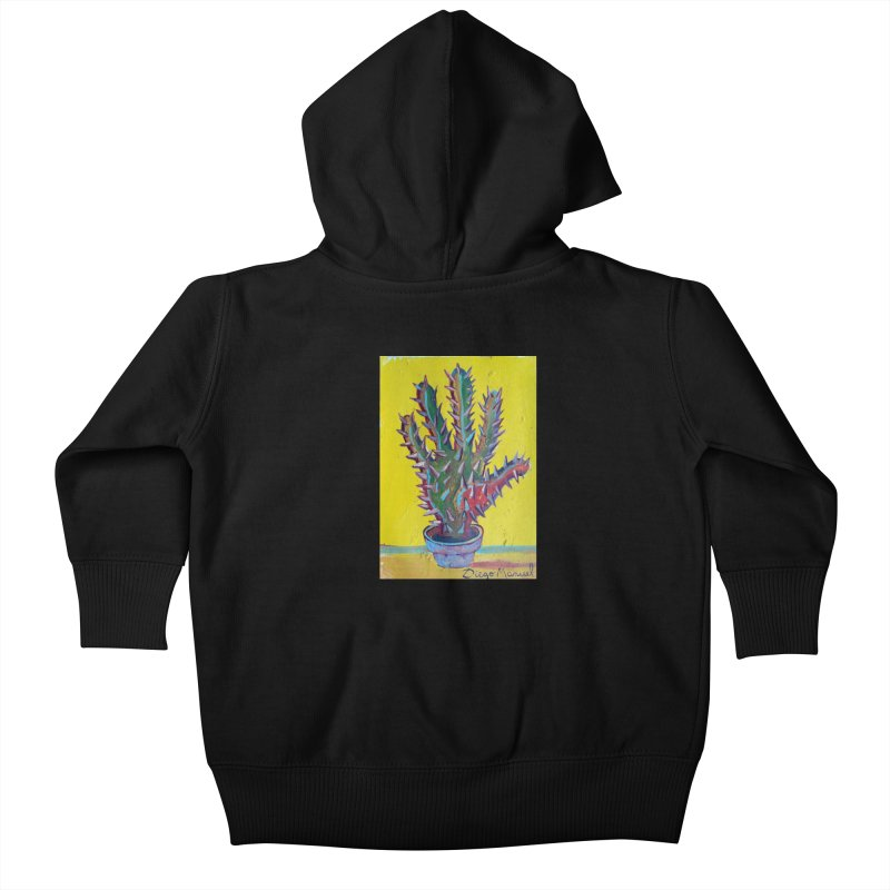 Mano cactus 2 Kids Baby Zip-Up Hoody by Diego Manuel Rodriguez Artist Shop