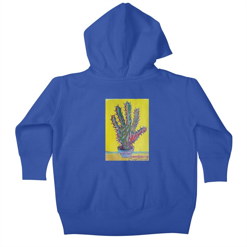 Mano cactus 2 Kids Baby Zip-Up Hoody by diegomanuel's Artist Shop