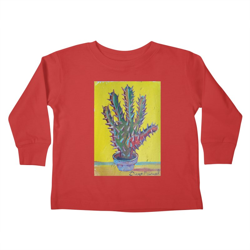 Mano cactus 2 Kids Toddler Longsleeve T-Shirt by Diego Manuel Rodriguez Artist Shop