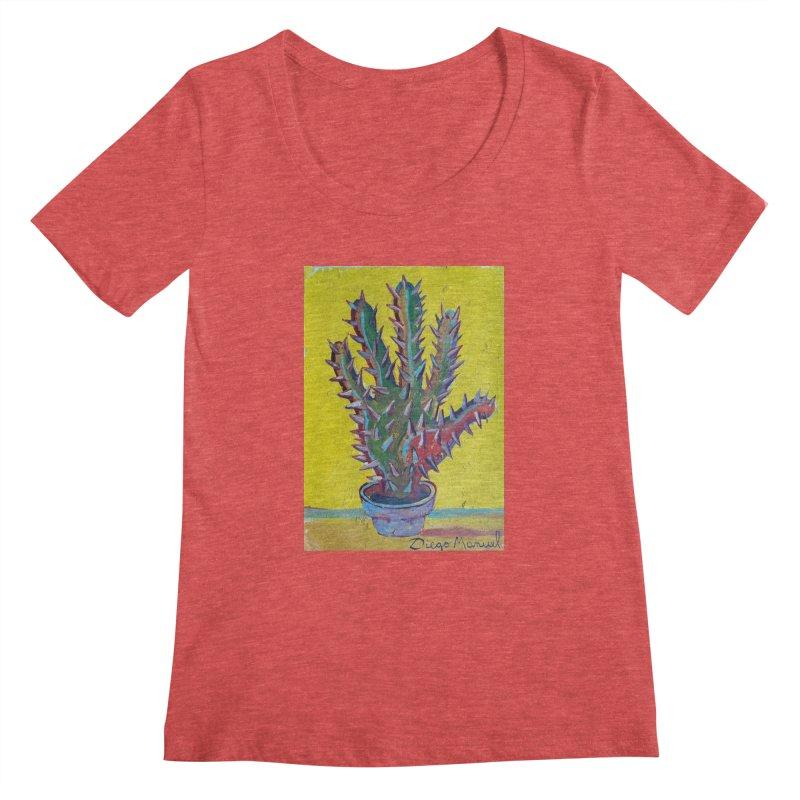 Mano cactus 2 Women's Scoopneck by diegomanuel's Artist Shop