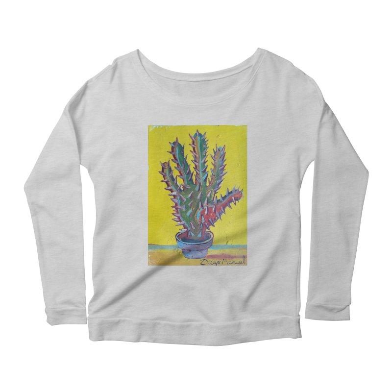 Mano cactus 2 Women's Scoop Neck Longsleeve T-Shirt by diegomanuel's Artist Shop