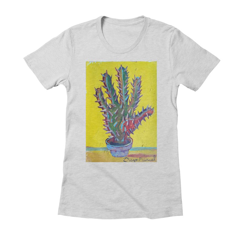 Mano cactus 2 Women's Fitted T-Shirt by diegomanuel's Artist Shop