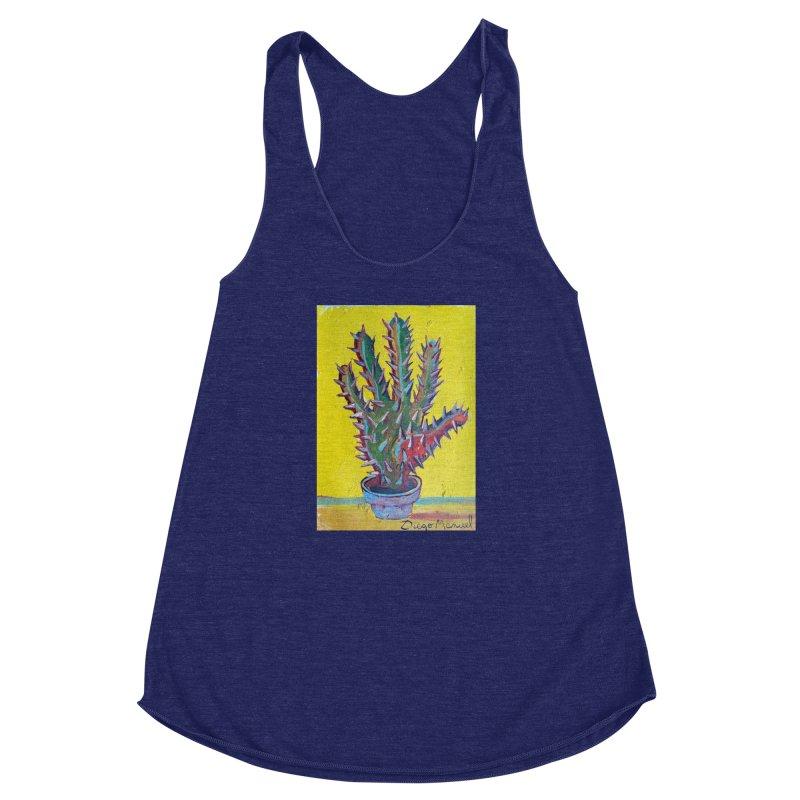 Mano cactus 2 Women's Racerback Triblend Tank by diegomanuel's Artist Shop