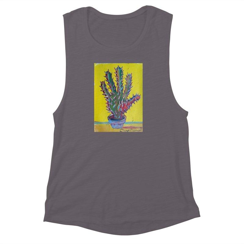 Mano cactus 2 Women's Muscle Tank by diegomanuel's Artist Shop