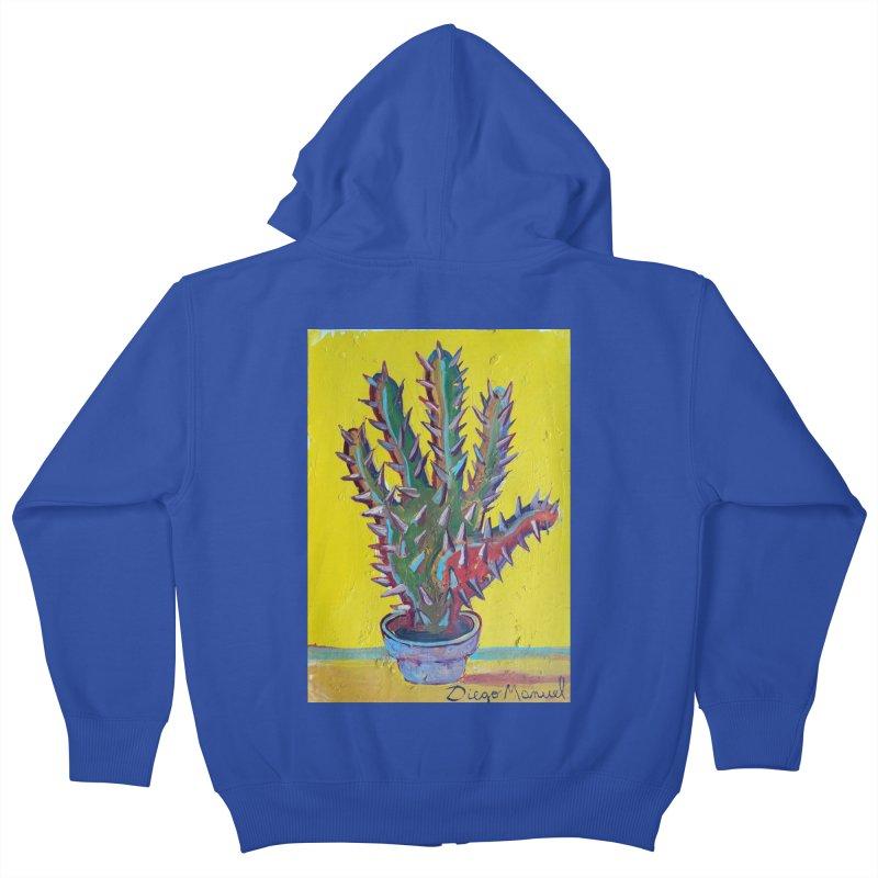 Mano cactus 2 Kids Zip-Up Hoody by diegomanuel's Artist Shop