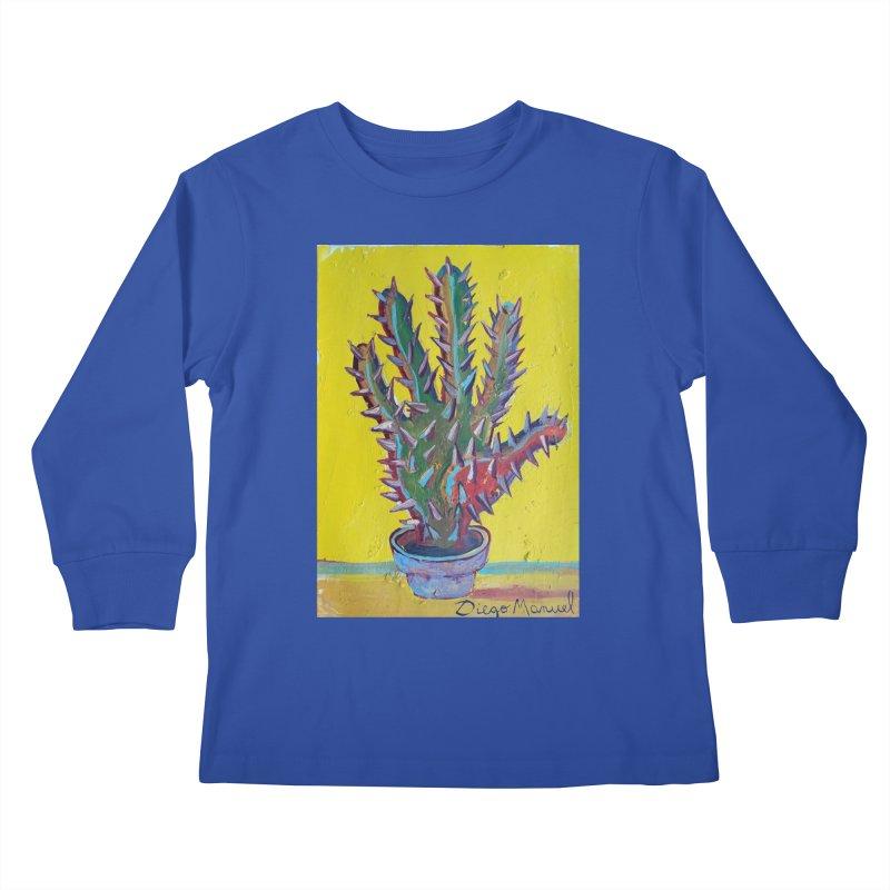 Mano cactus 2 Kids Longsleeve T-Shirt by diegomanuel's Artist Shop
