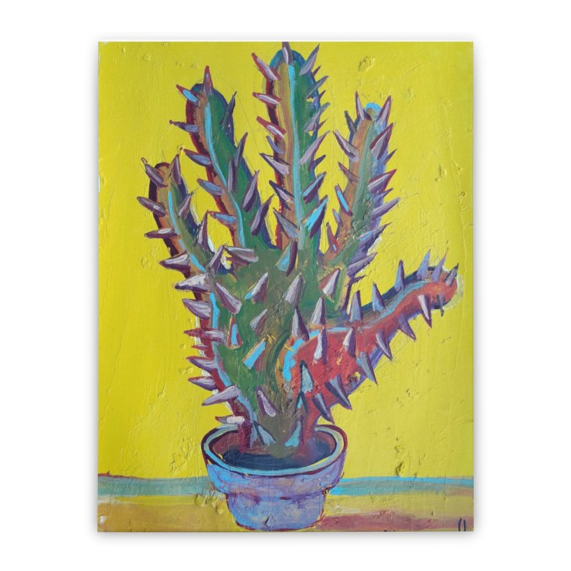 Mano cactus 2 Home Stretched Canvas by diegomanuel's Artist Shop