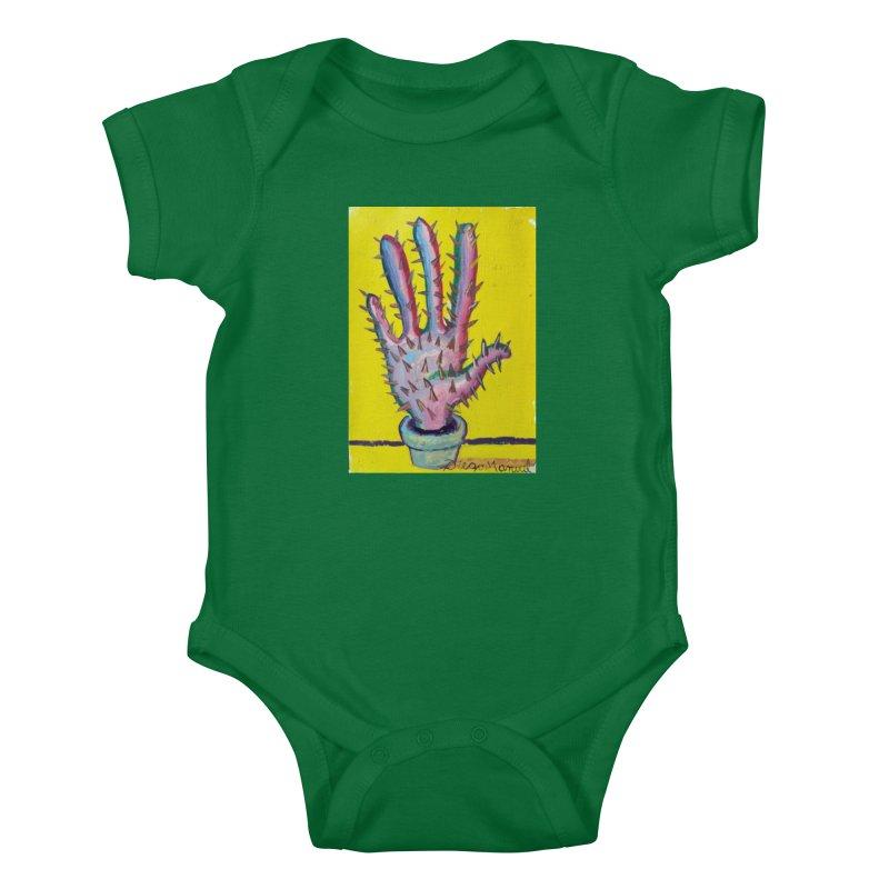 Mano cactus 3 Kids Baby Bodysuit by diegomanuel's Artist Shop