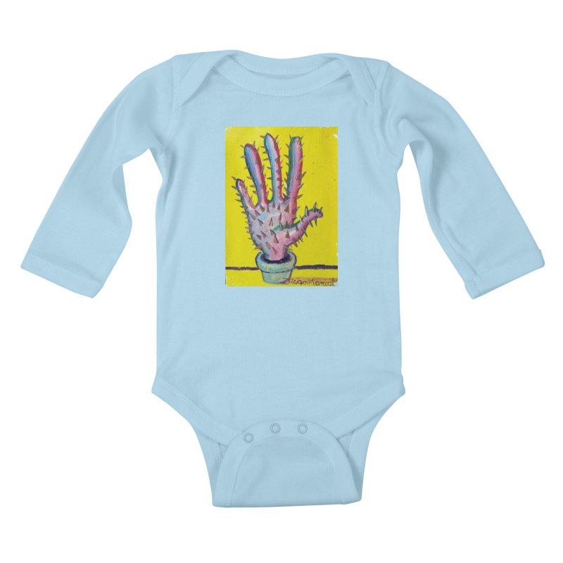 Mano cactus 3 Kids Baby Longsleeve Bodysuit by diegomanuel's Artist Shop