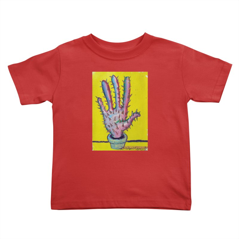 Mano cactus 3 Kids Toddler T-Shirt by diegomanuel's Artist Shop