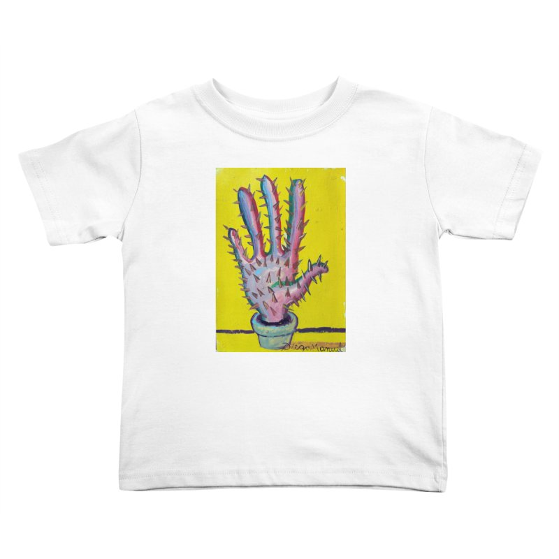 Mano cactus 3 Kids Toddler T-Shirt by diegomanuel's Artist Shop