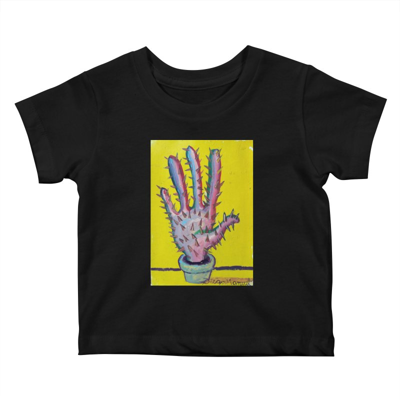Mano cactus 3 Kids Baby T-Shirt by diegomanuel's Artist Shop