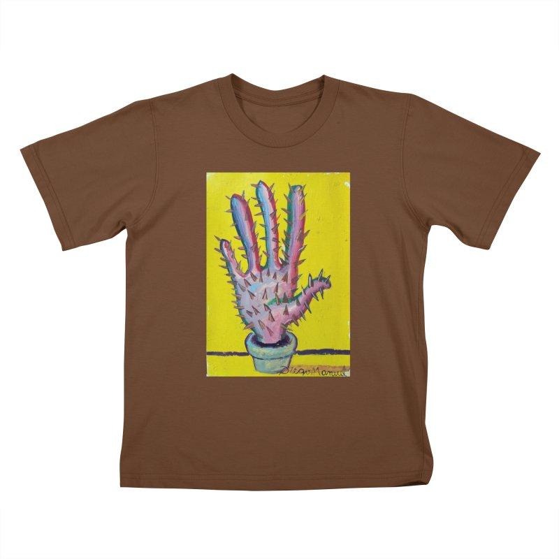 Mano cactus 3 Kids T-Shirt by diegomanuel's Artist Shop