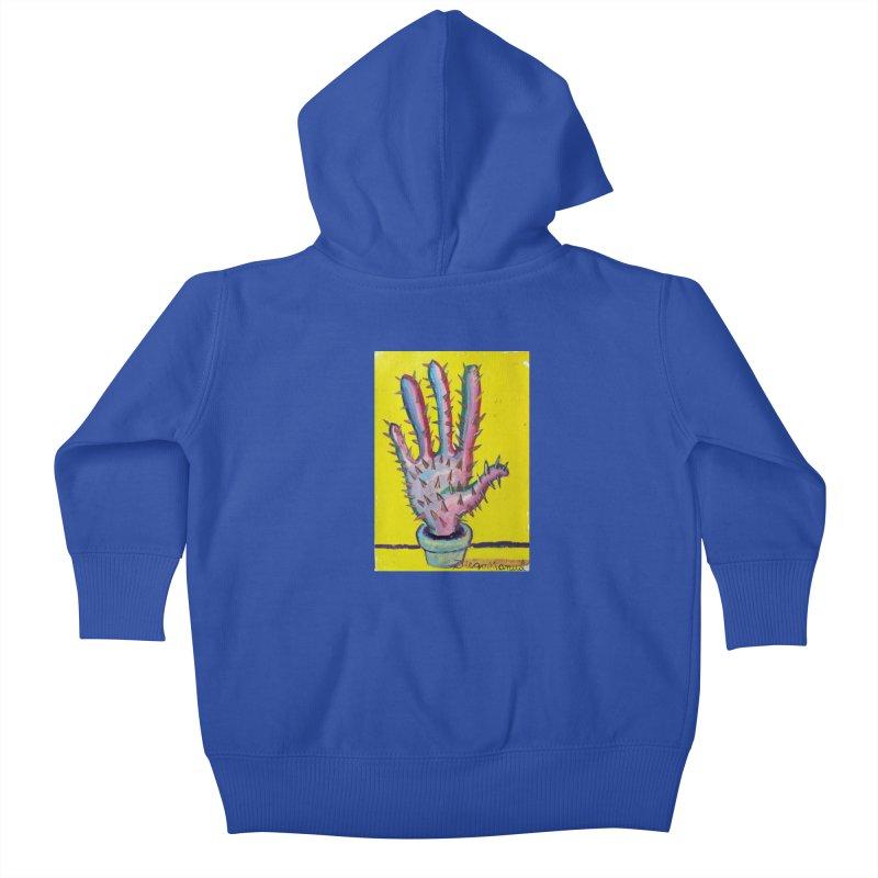 Mano cactus 3 Kids Baby Zip-Up Hoody by diegomanuel's Artist Shop