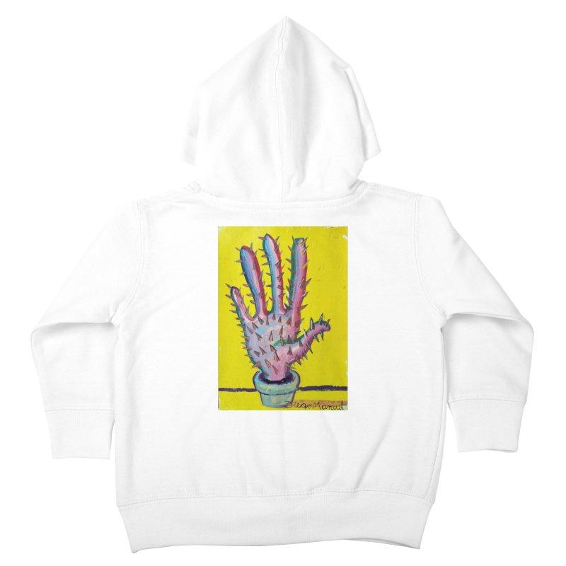 Mano cactus 3 Kids Toddler Zip-Up Hoody by diegomanuel's Artist Shop