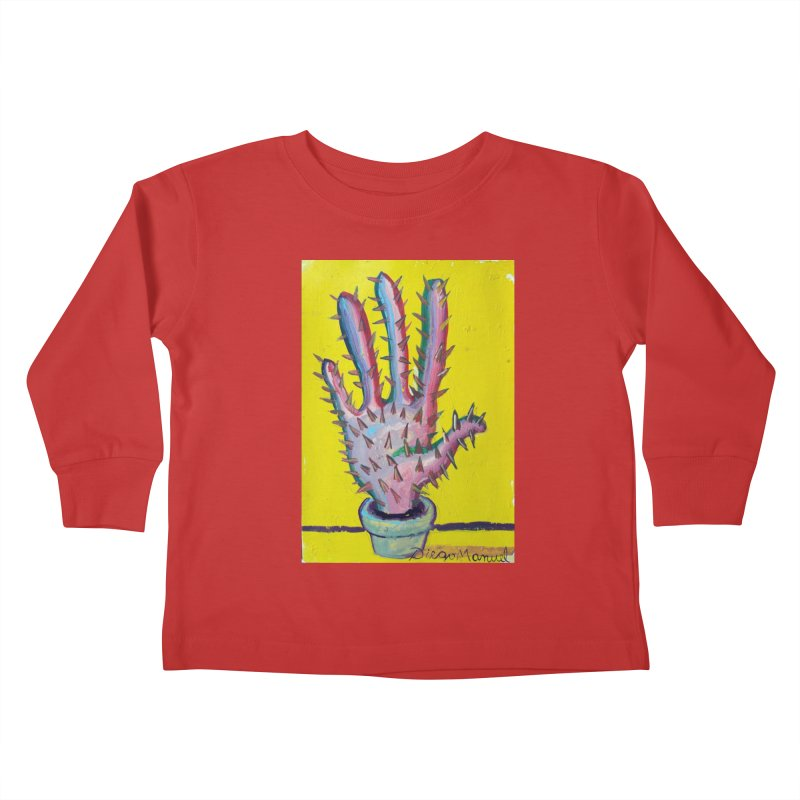 Mano cactus 3 Kids Toddler Longsleeve T-Shirt by diegomanuel's Artist Shop