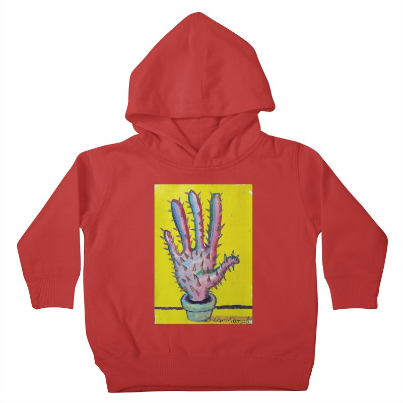 Mano cactus 3 Kids Toddler Pullover Hoody by diegomanuel's Artist Shop