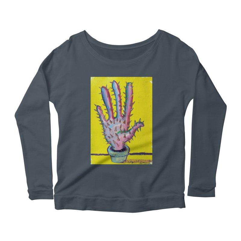 Mano cactus 3 Women's Scoop Neck Longsleeve T-Shirt by diegomanuel's Artist Shop