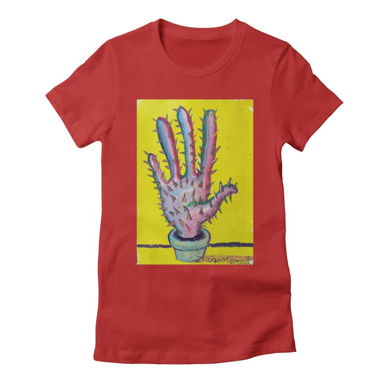 Mano cactus 3 Women's Fitted T-Shirt by diegomanuel's Artist Shop
