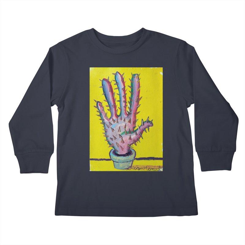 Mano cactus 3 Kids Longsleeve T-Shirt by diegomanuel's Artist Shop