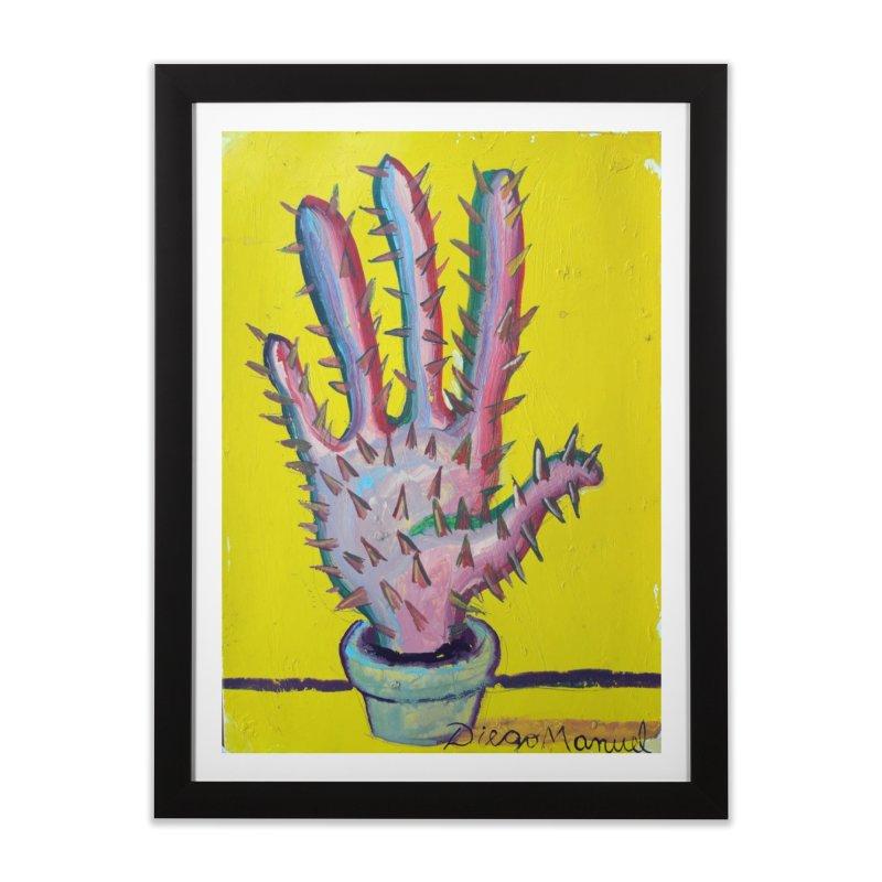 Mano cactus 3 Home Framed Fine Art Print by diegomanuel's Artist Shop
