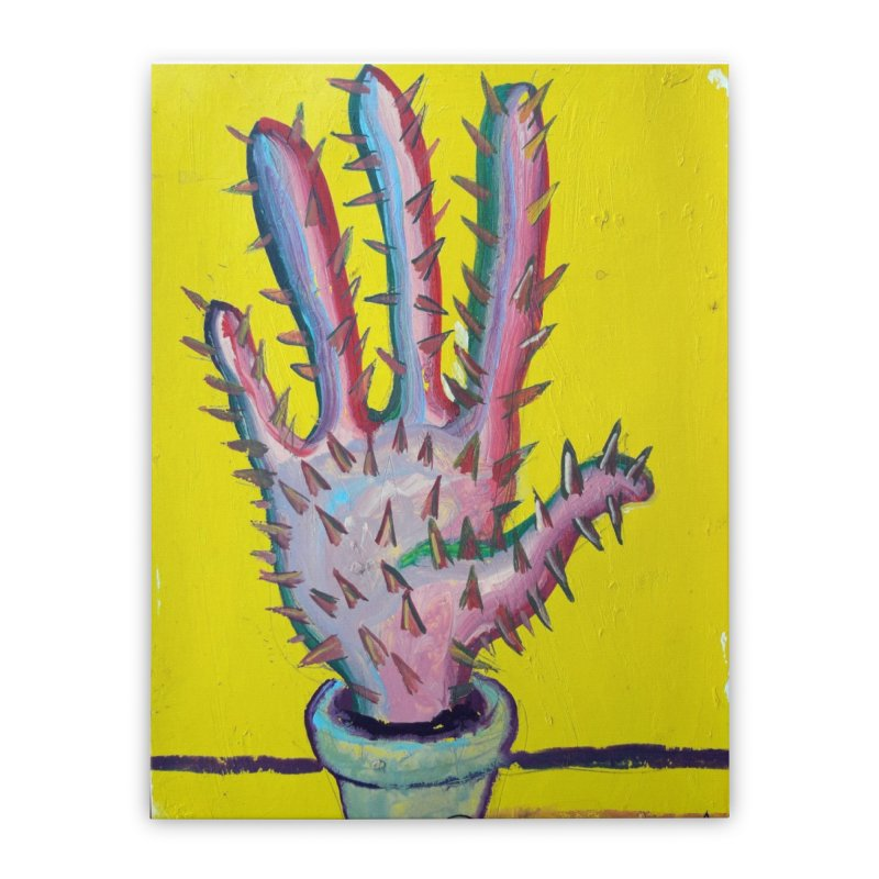 Mano cactus 3 Home Stretched Canvas by diegomanuel's Artist Shop