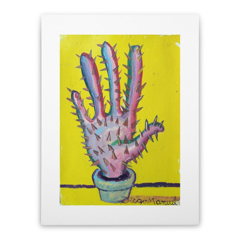 Mano cactus 3 Home Stretched Canvas by Diego Manuel Rodriguez Artist Shop