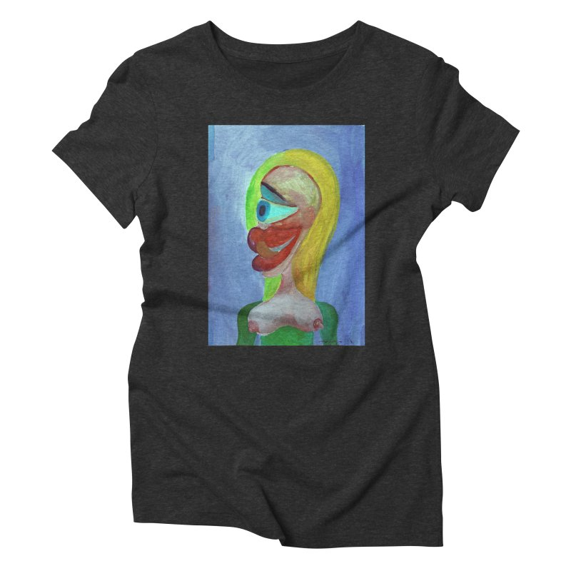 Rubia cubista 4 Women's Triblend T-shirt by diegomanuel's Artist Shop