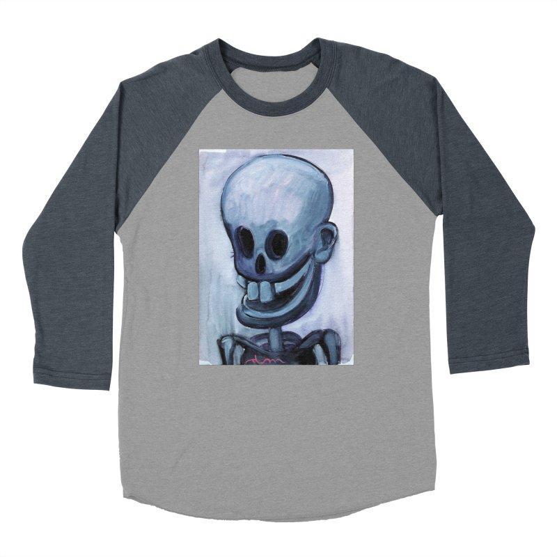 Calavera loca Men's Baseball Triblend T-Shirt by diegomanuel's Artist Shop