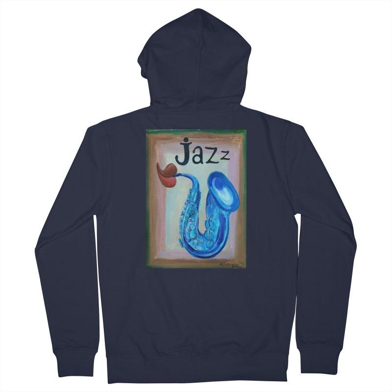 jazz 4 Women's Zip-Up Hoody by diegomanuel's Artist Shop