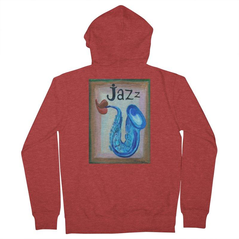 jazz 4 Men's Zip-Up Hoody by diegomanuel's Artist Shop