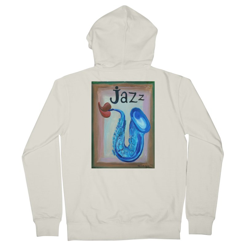 jazz 4 Men's Zip-Up Hoody by diegomanuel's Artist Shop