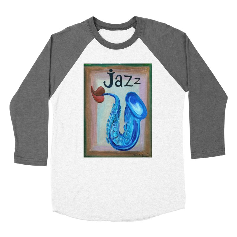 jazz 4 Women's Baseball Triblend T-Shirt by diegomanuel's Artist Shop