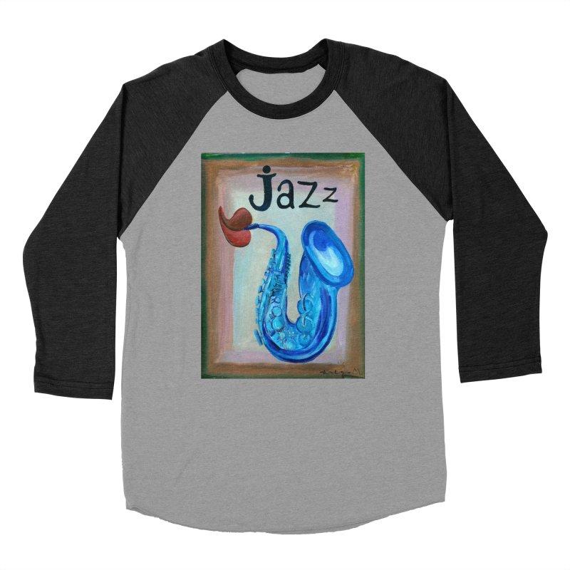 jazz 4 Men's Baseball Triblend T-Shirt by diegomanuel's Artist Shop