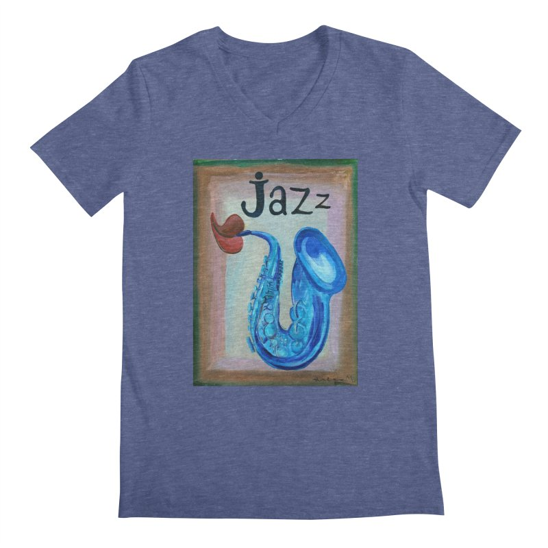 jazz 4 Men's V-Neck by diegomanuel's Artist Shop