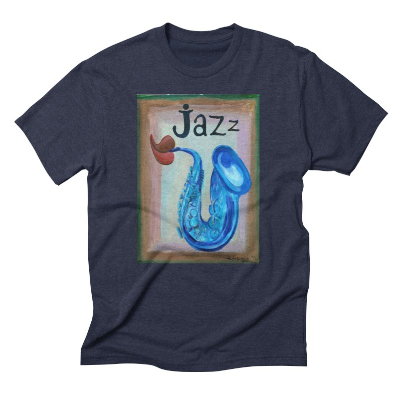 jazz 4 Men's Triblend T-shirt by diegomanuel's Artist Shop