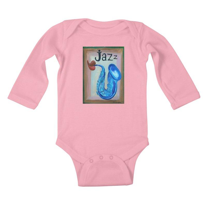 jazz 4 Kids Baby Longsleeve Bodysuit by diegomanuel's Artist Shop