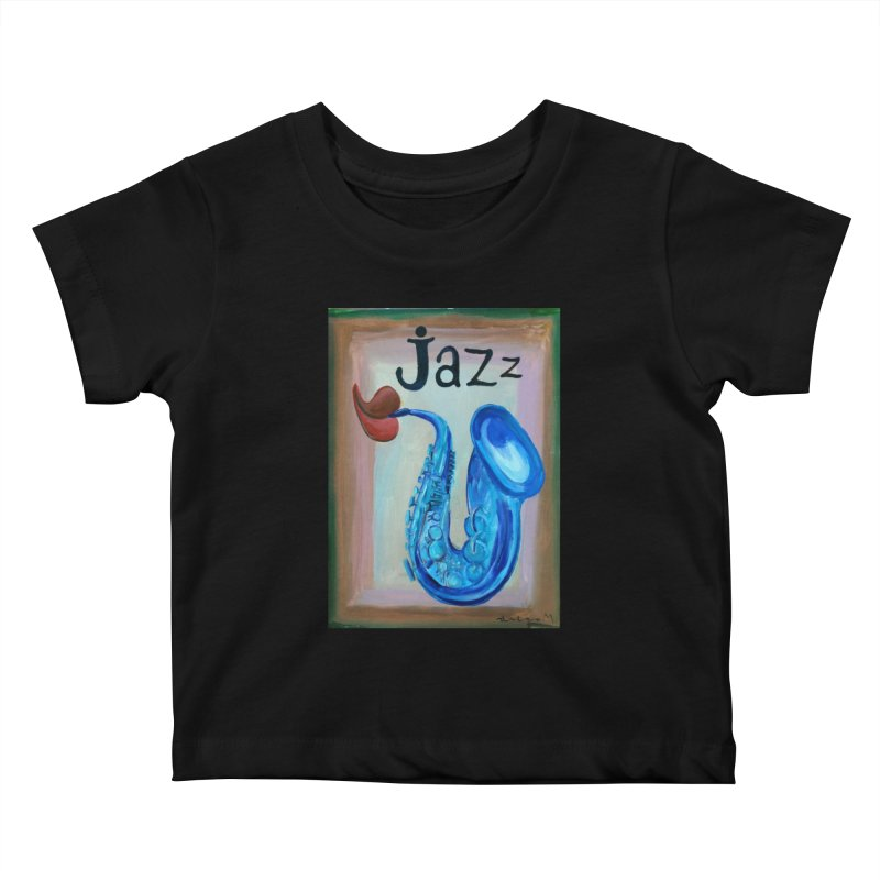 jazz 4 Kids Baby T-Shirt by diegomanuel's Artist Shop