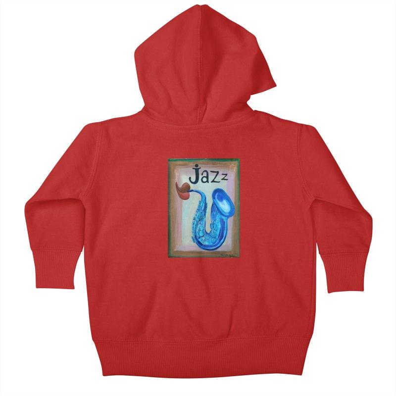 jazz 4 Kids Baby Zip-Up Hoody by diegomanuel's Artist Shop